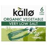 Kallo Organic Very Low Salt Vegetable Stock Cubes