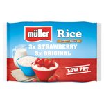 Muller Rice Strawberry & Original Low Fat Multipack Dessert