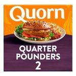 Quorn 2 Frozen Quarter Pounders