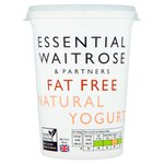 Essential Waitrose Natural Fat Free Yoghurt