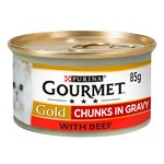 Gourmet Gold Cat Food Beef in Gravy