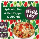 "Higgidy 6"" Spinach, Feta & Red Pepper Quiche"