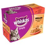 Whiskas Simply Pouch Grilled Meat Jelly