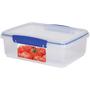 Sistema Klip It Rectangular Plastic Container 2L, Blue
