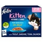 Felix As Good As It Looks Kitten Fish In Jelly