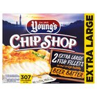 Young's Beer Battered Extra Large Chip Shop 2 Fish Fillets Frozen