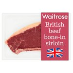Essential Waitrose British Beef Bone In Sirloin Steak