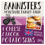 Bannisters' Farm 4 Cheese & Bacon Filled Potato Skins Frozen