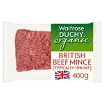 Duchy Waitrose Organic British Lean Beef Mince (typically 10% fat)