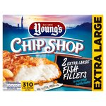 Young's Chip Shop 2 Extra Large Battered Fish Fillets Frozen