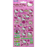 Hello Kitty Pink Reusable Foil Stickers Large 3+